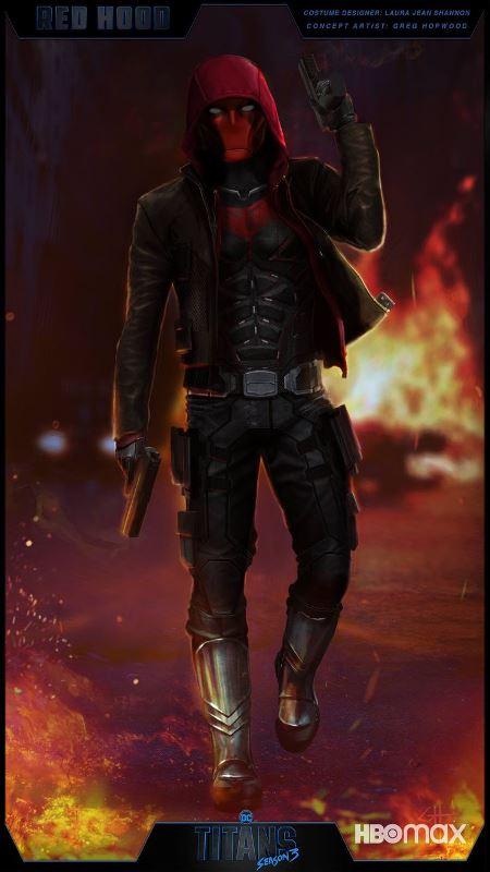 Titans Season 3 Red Hood Costume Concept Art