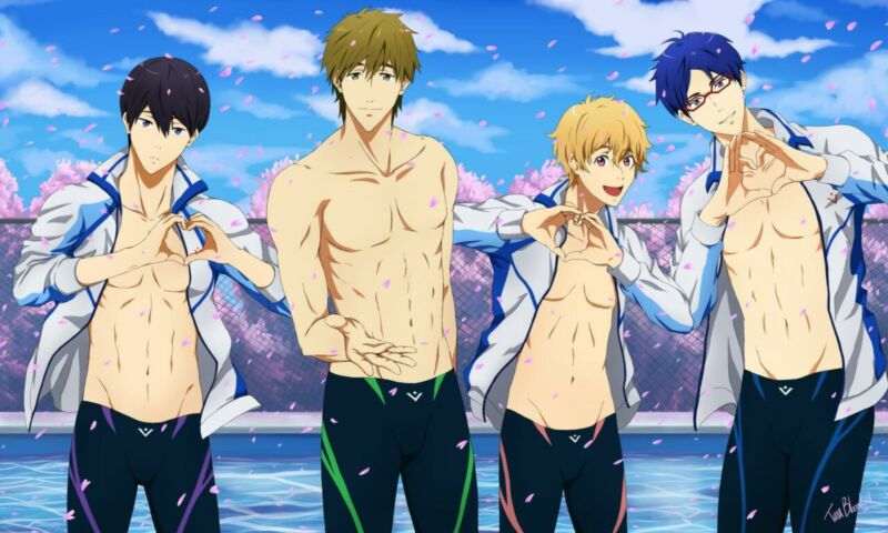 Free Iwatobi Swim Club Boys