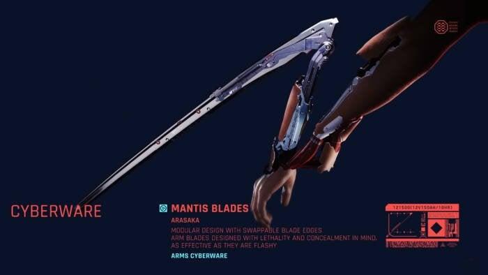Cara Mendapatkan Mantis Blades Cyberpunk 2077