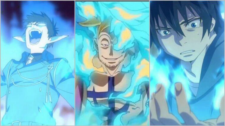 Karakter Anime Kekuatan Api Biru