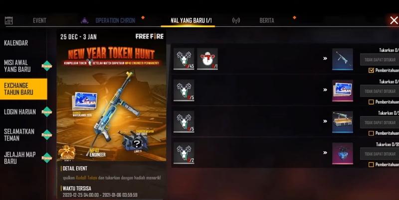 cara mendapatkan snowman token free fire