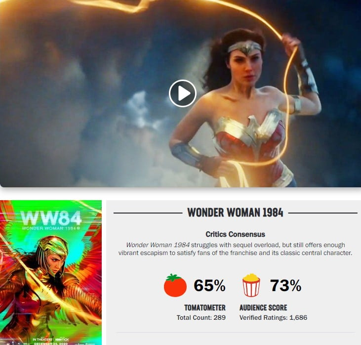 Wonder Woman Review Rotten Tomatoes