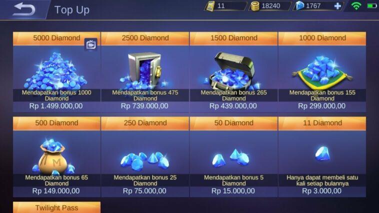 Aplikasi Penghasil Diamond Mobile Legends Gratis