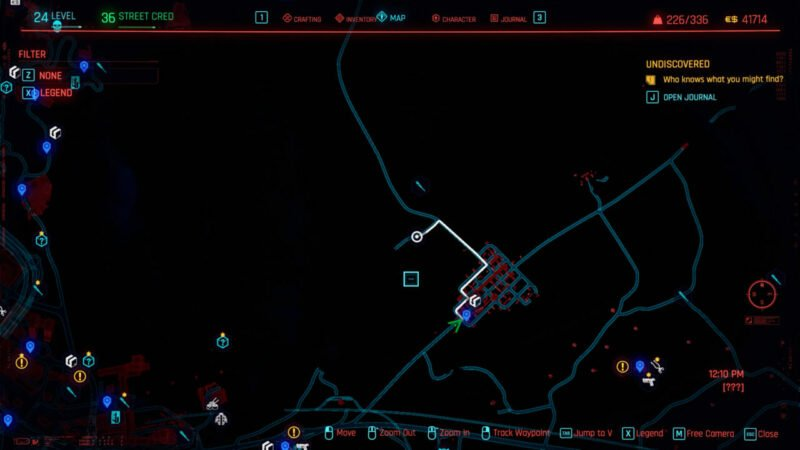 Lokasi Mobil Rayfield Caliburn Cyberpunk 2077