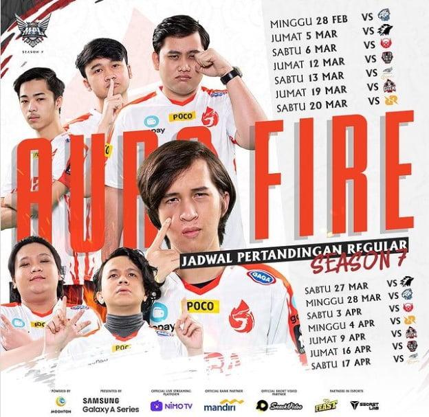 Jadwal Aura Fire