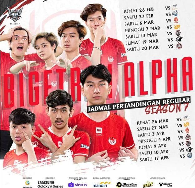 Jadwal Bigetron Alpha Mpl Season 7