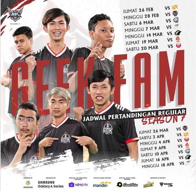 Jadwal Geek Fam Mpl Season 7