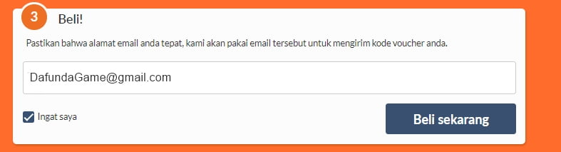 Konfirmasi Email Top Up Xbox Card