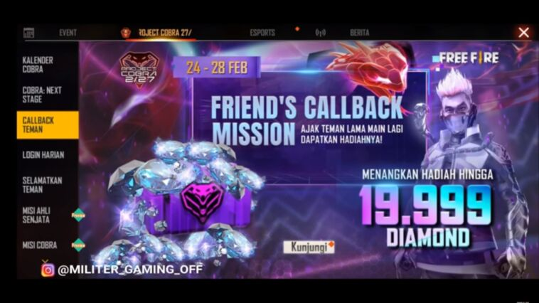 Call Back Cobra Free Fire (FF)