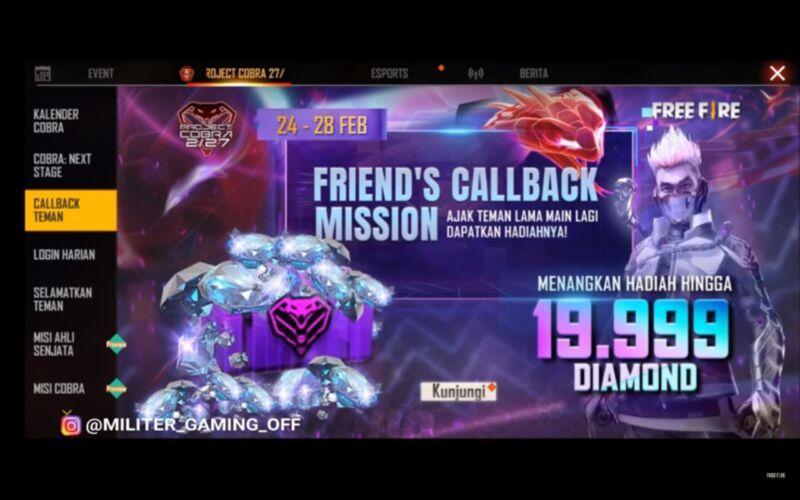 Call Back Cobra Free Fire (FF)