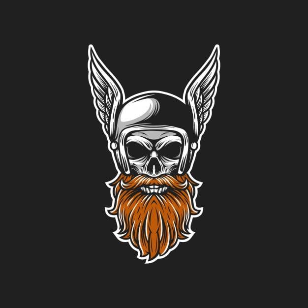 Beard Skull Helmet