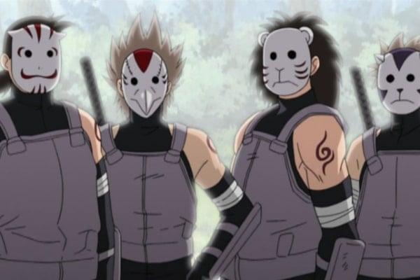 Anbu + Karakter Naruto Beban