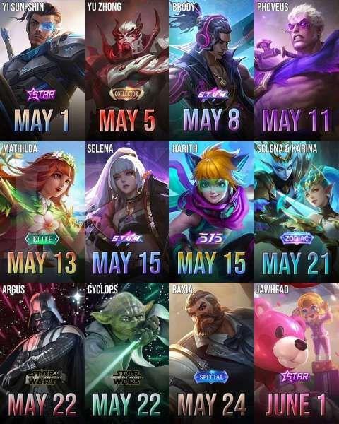 Skin Mobile Legends Mei 2021