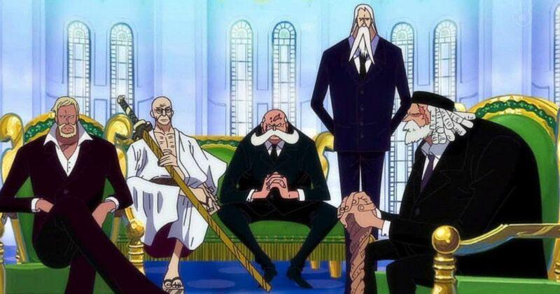 Gorosei + Pihak yang Menghalangi Luffy