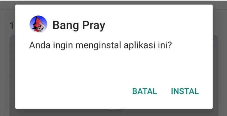 Install Aplikasi
