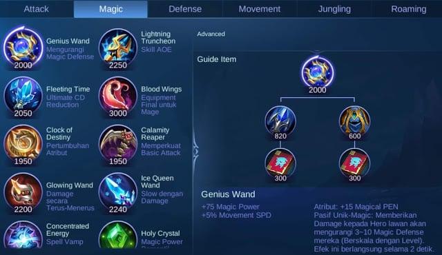 penjelasan dan fungsi item mobile legends- Item Magic