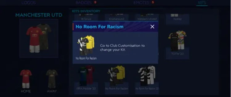 Kit Fifa Mobile No Room For Racism