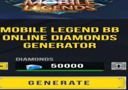 Cara Menggunakan Generator Diamond Mobile Legends 1