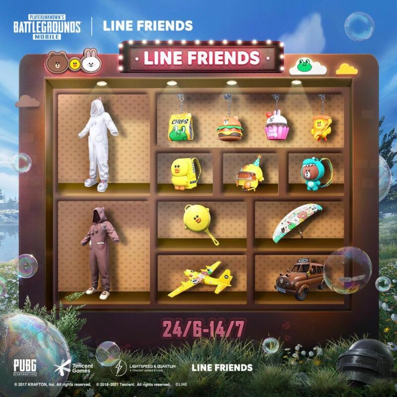 Pubg Mobile Line Friends Hadiah