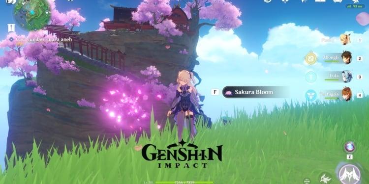 Lokasi Sakura Bloom Genshin Impact