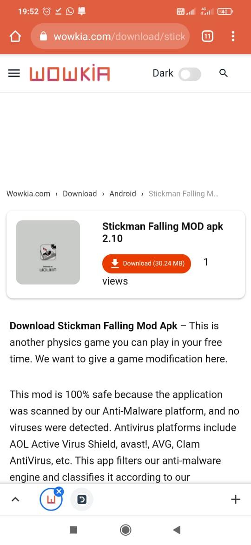 Stickman Falling Mod Apk