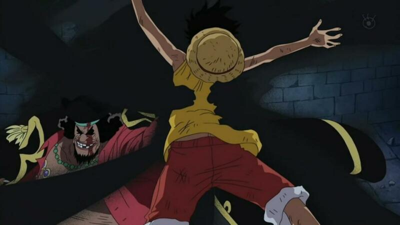 Yami Yami No Mi Bisa Menghabat Pergerakan Luffy   Luffy kesulitan melawan Kurohige