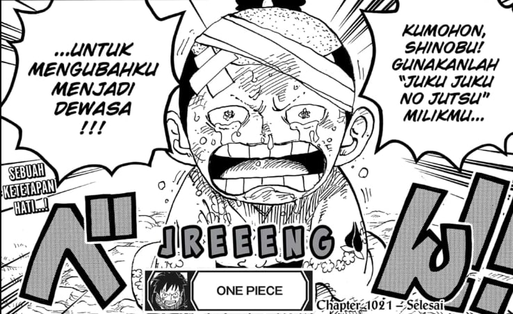Momonosuke Sudah Membulatkan Tekadnya   Manga One Piece 1021
