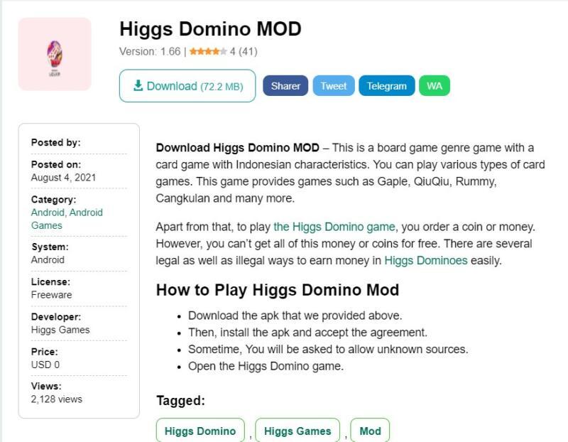 Higgs Domino Mod