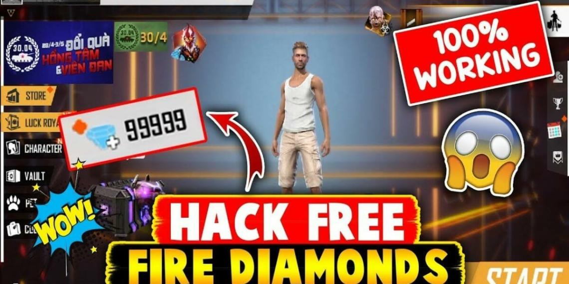 Hack Free Fire Diamonds 99999